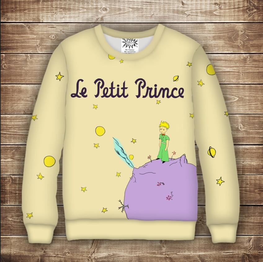 Свитшот с принтом Маленький принц и планета - фото 1