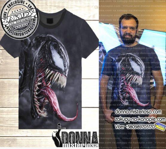 футболка веном, футболка с 3д принтом venom