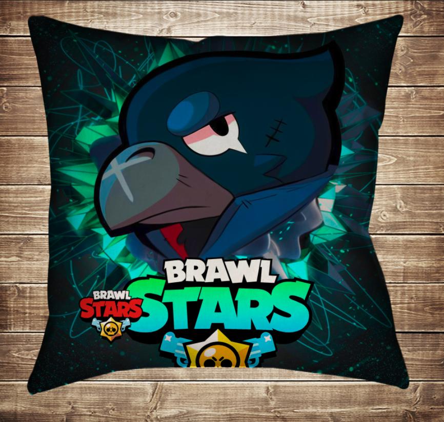 Подушка 3D - Бравл Старс Ворон Фейс Brawl Stars