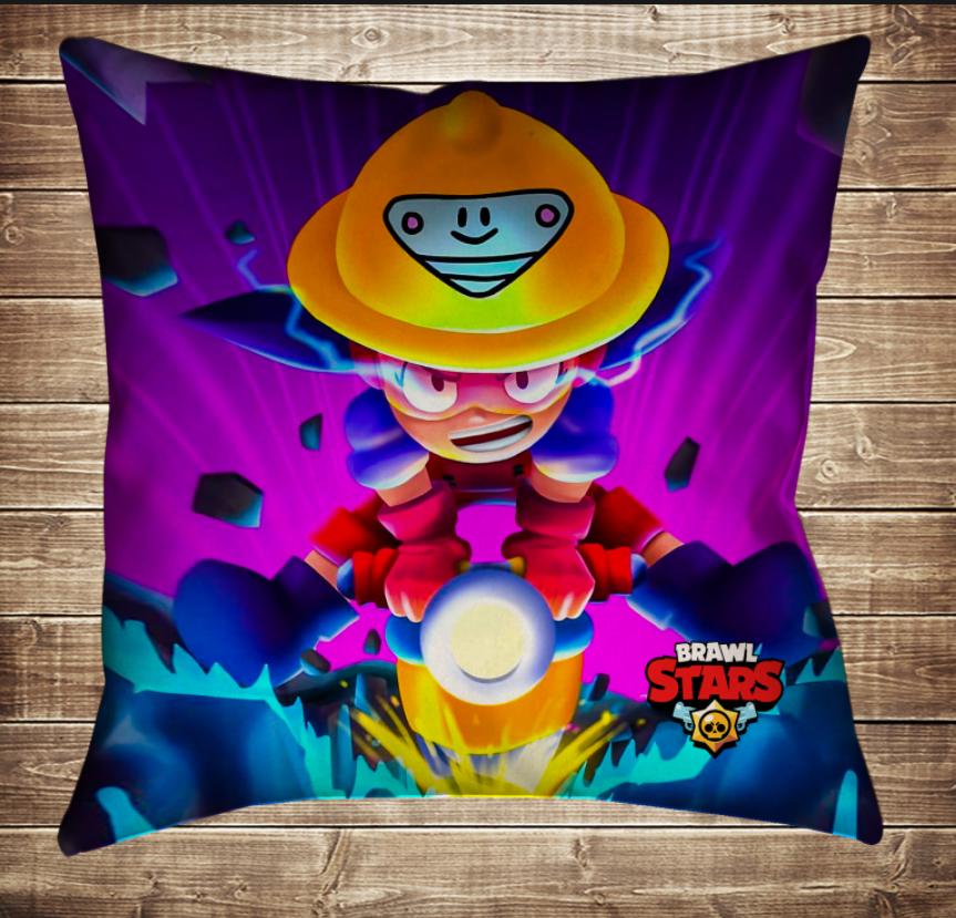 Подушка 3D - Бравл Старс Джекі і бур Brawl Stars