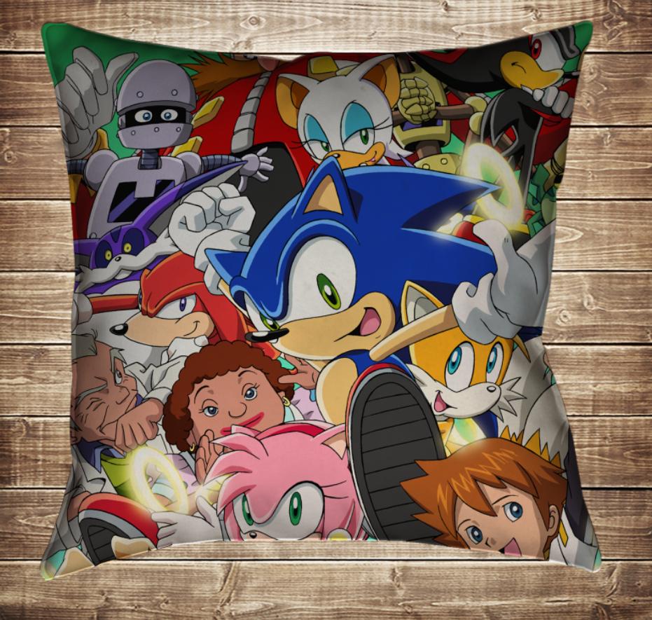 Подушка 3D - Сонік і всі герої