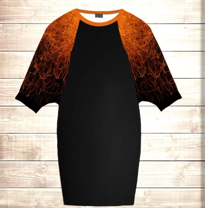 Умное платье с 3D принтом Fire Plasma
