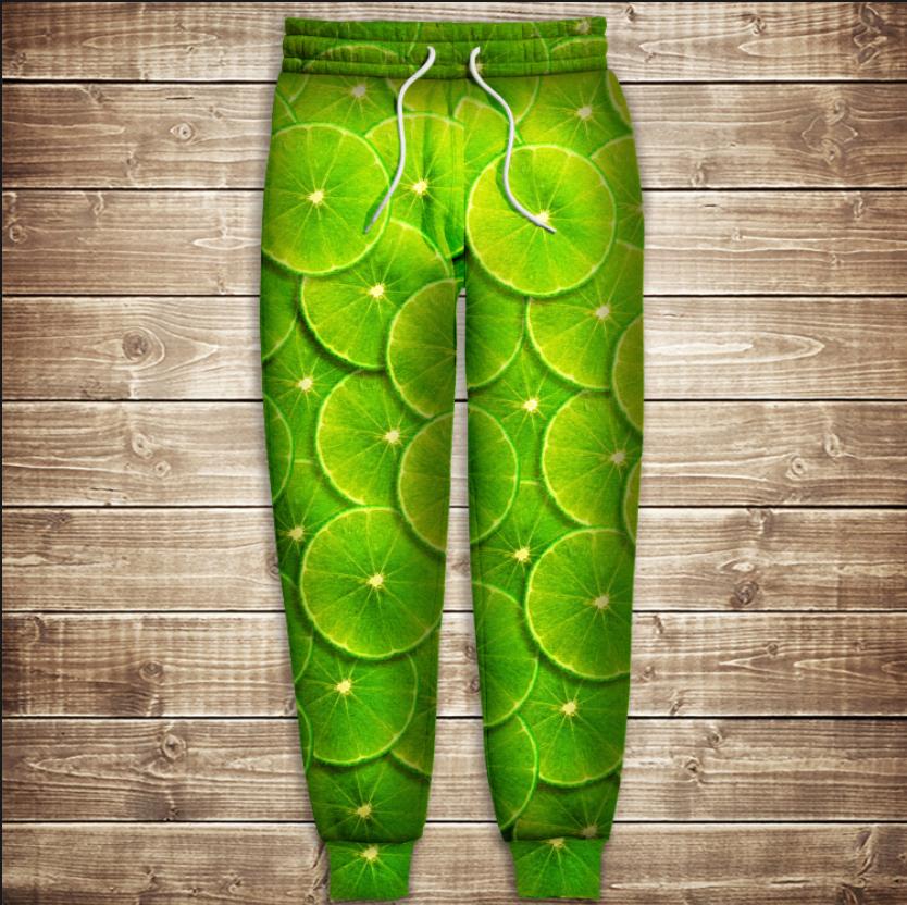 Штаны 3D-green lime