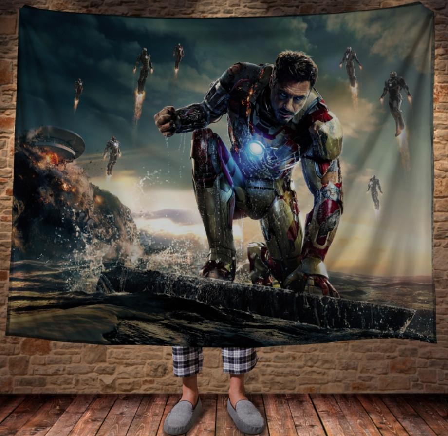 Плед с 3D принтом -Iron Man / Железный Человек