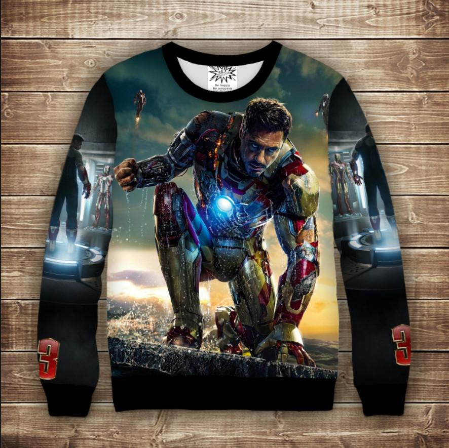 Свитшот с 3D принтом Iron Man / Железный человек