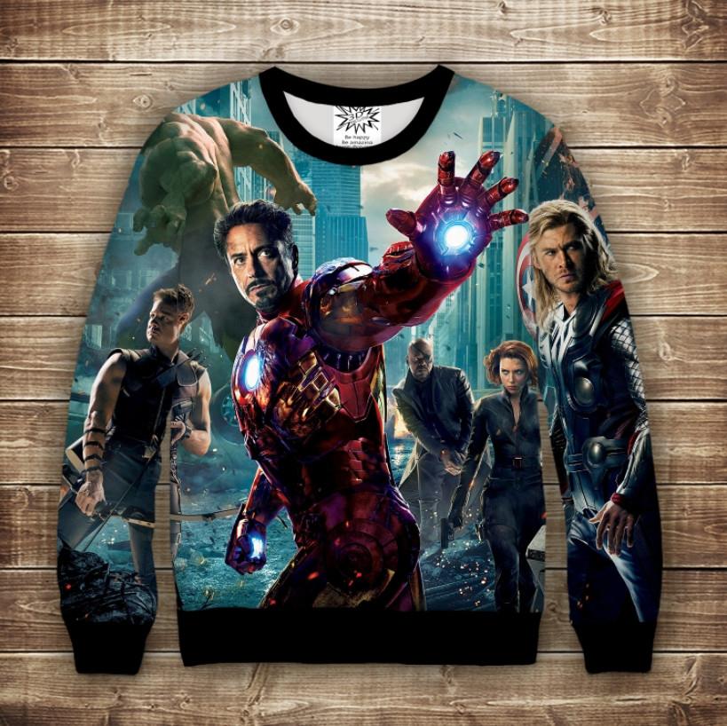 Свитшот с 3D принтом Avengers / Мстители