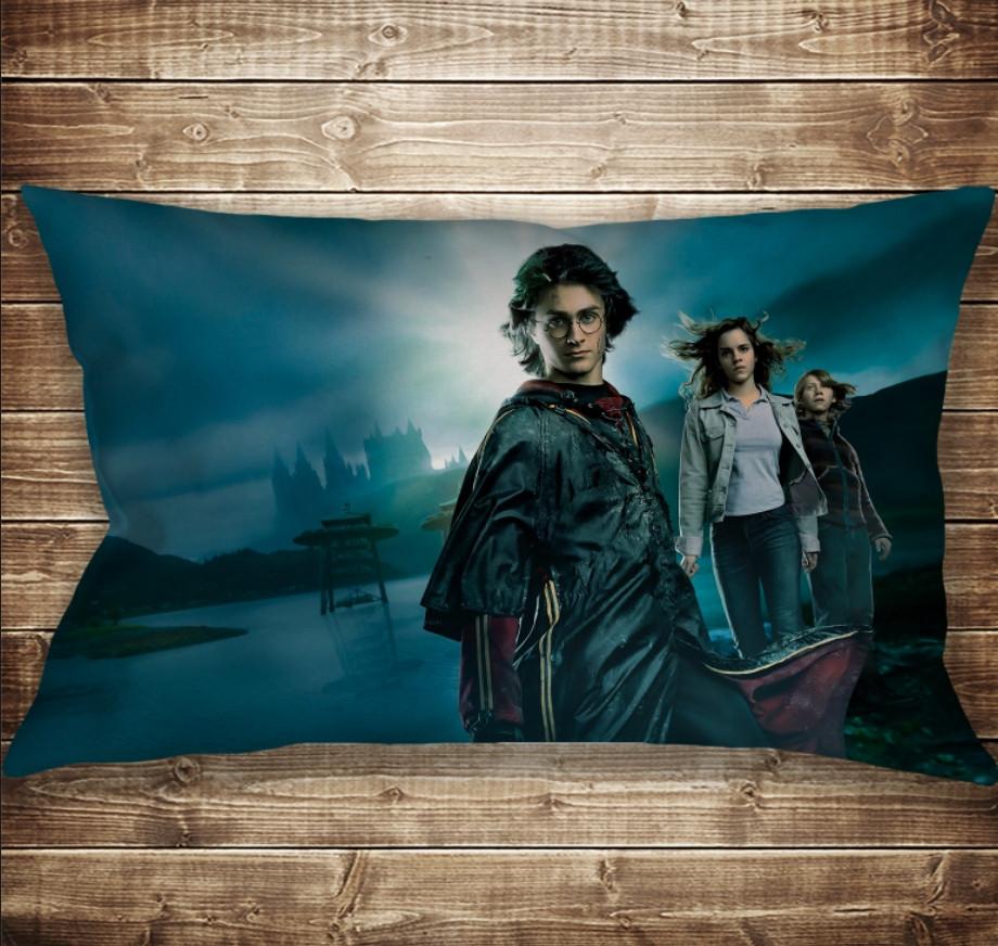 Подушка-картина с принтом на тему Гарри Поттер Рассвет и Магия 50х70см