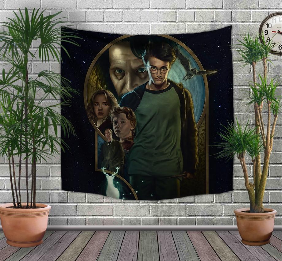 Панно-тапестри(гобелен) с 3D с принтом Гарри Поттер и узник Азкабана
