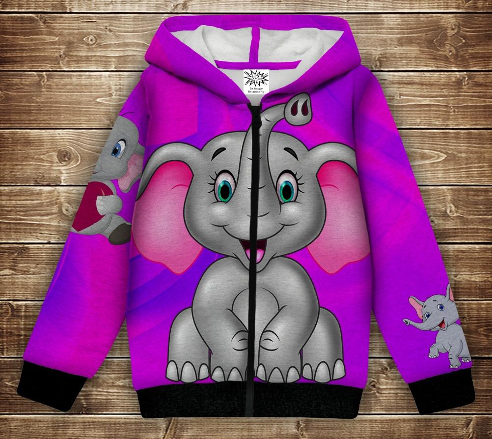 Худи с 3Д принтом на тему - Слоники. Волшебные слоники 1. Детские и взрослые размеры