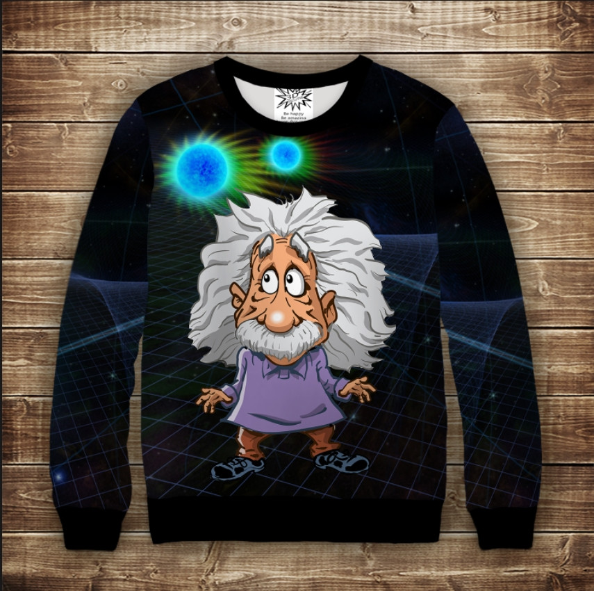 Свитшот 3D Энштейн и Теория относительності